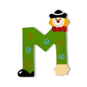 Декоративна дървена буква - М
