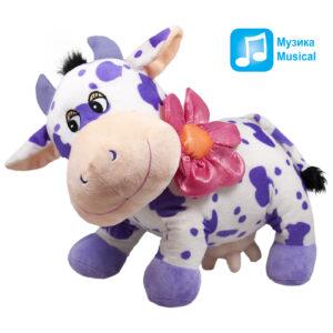 Крава с цвете